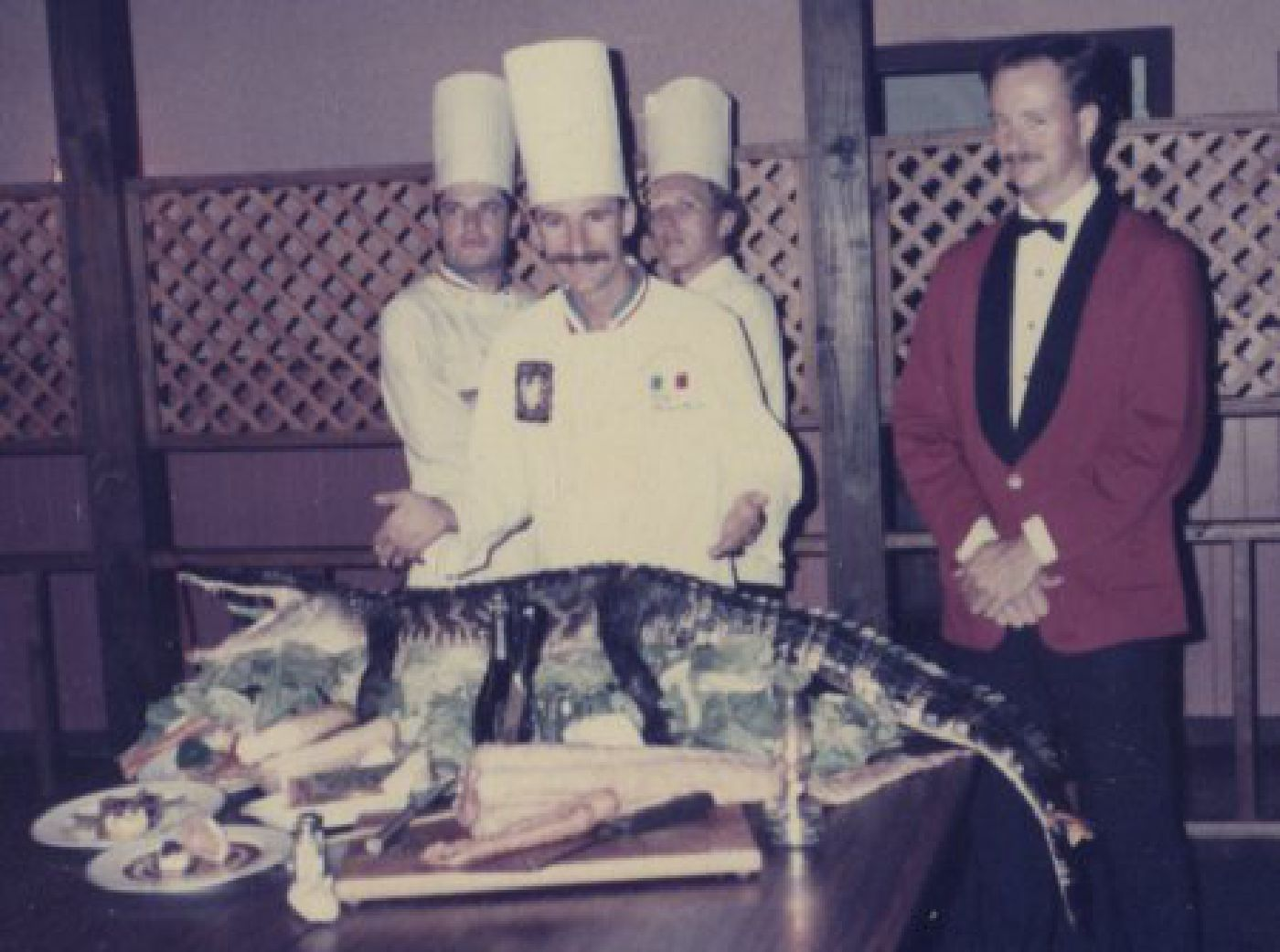 Chef Philippe presents alligator as an exotic cuisine